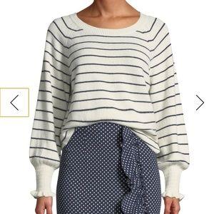 PREORDER-Rebecca Taylor WoolCotton Striped Sweater